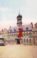 Mons -L'Hôtel De Ville - Carte Colorée Et Circulée En 1930 - Mons