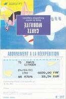 Carte D'abonnement à La Réexpédition - Tarif 220F / 33,54€ - 24/04/2001 - Bureau Paris Citroën - Postmark Collection (Covers)