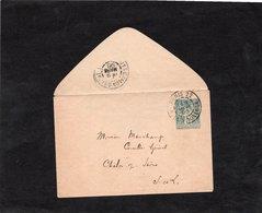 LSC 1896 - Cachet PARIS 22 - Rue De Provence Sur Type Sage 5ct Vert - Au Dos Cachet CHALON Sur SAONE - Postal Stamped Stationery