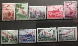 Serbie 1941 / Yvert Poste Aérienne N°1-5 Et 7-10 / * / Occupation Allemande - Serbie