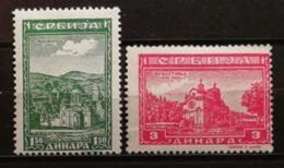 Serbie 1943 / Yvert N°77-78 / * / Occupation Allemande - Serbia