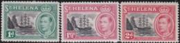 St Helena      .    SG     .   149/151      .     *         .     Mint-hinged      .   /   .   Ongebruikt - Groot-Brittannië (oude Kolonies En Protectoraten)