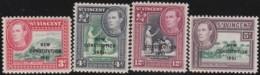 St  Vincent   .    SG  .   184/187      .     *      .   Mint-hinged      .   /   .   Ongebruikt - St.Vincent (...-1979)