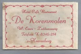 Suikerzakje.- 's-HEERENBERG. Hotel Café Restaurant - DE KORENMOLEN - W. Evers. Suiker Sucre Zucchero Zucker Sugar - Suiker