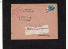 LSC 1959 - Griffe Retour à L'envoyeur Sur  Préoblitéré YT 125 - Au Dos Cachets ST HILAIRE DE BRETHMAS (Gard) - Precancels