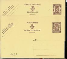 Carte N° 130A. I. FN. Et II. NF.  (lion Héraldique) - Postwaardestukken