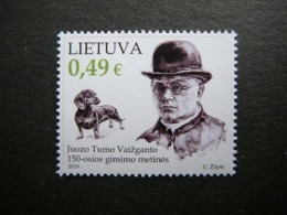 Writer. Dogs # Lithuania Lietuva Litauen Lituanie Litouwen # 2019 MNH #Mi.1316 - Lituanie