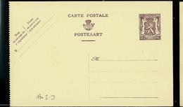 Carte N° 130D. I. FN.  (lion Héraldique) - Postwaardestukken