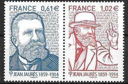 France 2014 N° 4869/4870 Neufs Se Tenant, Jean Jaurès, à La Faciale - Francia