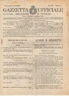 B 2998  -  Gazzetta Ufficiale Del Regno D'Italia,  1945 - Decreti & Leggi