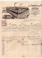 1909  HUNGARY,BUDAPEST,J.ZWACK & CO,INVOICE ON COMPANY LETTERHEAD,LIQUEUR DISTILLERY,IMPRINTED REVENUE  STAMP - Invoices & Commercial Documents