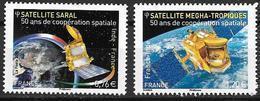 France 2015 N°4945/4946 Neufs Coopération Spaciale Avec Inde, à La Faciale +10% - Francia