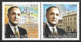 France 2015 N° 4970/4971 Neufs Se Tenant, Gilberto Bosques, à La Faciale + 10% - Francia