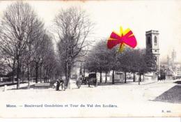 MONS - Boulevard Gendebien Et Tour Du Val Des Ecoliers - Circulée En 1906 (bien Avant Les Différents Boulevards) - Mons