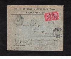 LSC 1907 - Entête RICH DIETTERLE , ALEXANDRIA (Egypt)  - Cachet Alexandria Sur YT 41- Au Dos Cachet LE HAVRE - Égypte