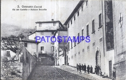 128533 ITALY S. GENNARO LUCCA STREET OF CASTLE & PALACE BACCELLA POSTAL POSTCARD - Italie