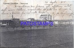 128535 ITALY CIGLIANO VERCELLESE VIEW PANORAMA BREAK POSTAL POSTCARD - Italien