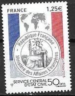 France 2015 N° 4959 Neuf Service D'état Civil à La Faciale - Francia