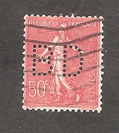 Perforé/perfin/lochung France No 199 BD Dewisme Et Bouillant - Sté Nouvelle Composés Chimiques - France