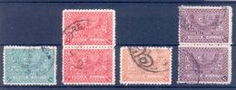 SAUDI ARABIA LOT OF 6 USED STAMPS 1934 Symbols Of Domination - Arabia Saudita