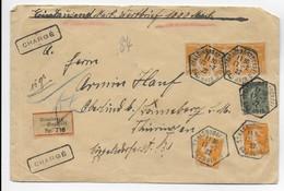 Frankreich 1922 - Wertbrief-Einschreiben Strasbourg-Stockfeld Bas Rhin Nach Thüringen - Chargé - Stempel - Storia Postale