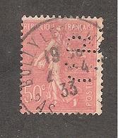 Perforé/perfin/lochung France No 199 C.B. Cie De Béthune - Gezähnt (Perforiert/Gezähnt)