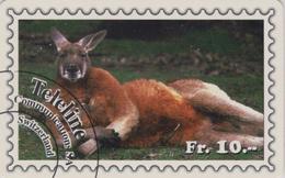 Télécarte Suisse Teleline - Série ANIMAL & TIMBRE - KANGOUROU - KANGAROO & STAMP Phonecard - 158 - Stamps & Coins