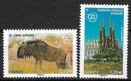 France 2015 Service N° 164/165 Neufs UNESCO à La Faciale + 10% - Mint/Hinged
