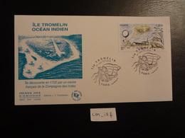FRANCE 2019 1,30  ÎLE TROMELIN , OBLITERATION PREMIER JOUR 9.11.2019 ENVELOPPE F.D.C. OCÉAN INDIEN - 2010-....