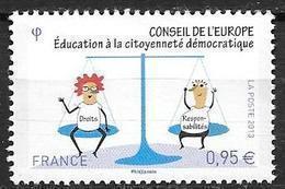 France 2013 Service N° 156 Neuf Conseil De L'Europe à La Faciale - Servizio