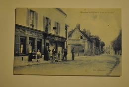 78 Yvelines Mantes La Ville Route De Houdan Cafe Magasin De Cartes Postales Billard - Mantes La Ville