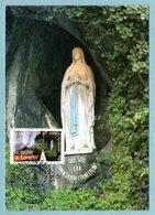 Carte Maximum 2006 - Portrait Des Régions - La Grotte De Lourdes - YT 3950 - 65 Lourdes - 2000-09