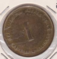 JETON NECESSITE DEUS CHARITAS EST BROEDERS VAN LIEFDE FRERES DE LA CHARITE 1 - Monetary / Of Necessity