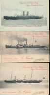 BELGIUM PPS OSTENDE DOVER X3 ONE UNUSED TWO USED - Entiers Postaux