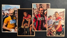 4 Cartes / Cards - Cyclists - Cyclisme - Ciclismo -wielrennen - Wielrennen
