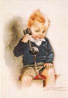 Centenaire Mauzan, 1983, Carte Postale 'L'Enfant Au Téléphone', Edition Limitée 1000 Exemp N° 246 - Mauzan, L.A.