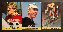 3 Cartes / Cards - POK Brussels - Cyclists - Cyclisme - Ciclismo -wielrennen - Wielrennen