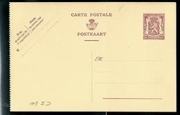 Carte Neuve N° 119D. I. FN. Et II. NF.   Lion Héraldique - Postwaardestukken