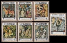 1967Aden Qu'aiti State In Hadhramaut157-63Paintings / Horses10,00 € - Autres