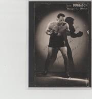 .BOXING.BOKSEN. PHOTO.Lansival   BOXEUR  Jean DOBIASCH  Manag. Pierre Gandon   SIGNEE. AUTOGRAPHE - Boxing