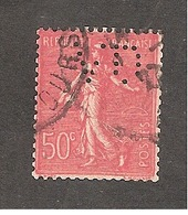 Perforé/perfin/lochung France No 199 VD Verley Decroix Et Cie (18) - France
