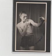 .BOXING.BOKSEN. PHOTO.  BOXEUR  A IDENTIFIER   CARIGAND  ???   SIGNEE. AUTOG. - Boxing