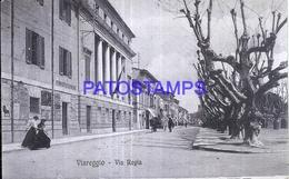 128559 ITALY VIAREGGIO LUCCA VIA REGIA CIRCULATED TO LUCCA POSTAL POSTCARD - Non Classificati