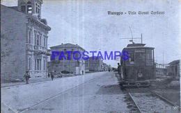 128560 ITALY VIAREGGIO LUCCA STREET GIOSUE CARDUCCI & TRAIN POSTAL POSTCARD - Italia