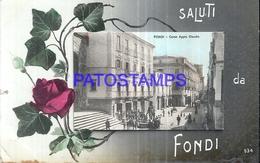 128562 ITALY FONDI STREET APPIO CLAUDIO BREAK CIRCULATED TO VIAREGGIO POSTAL POSTCARD - Italië