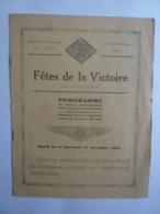 PROTECTORAT DU CAMBODGE PHNOM-PENH FETES DE LA VICTOIRE PROGRAMME Novembre  1931  Jan. 2020 Gera ALB - Programmes