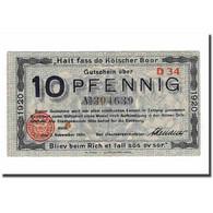 Billet, Allemagne, 10 Pfennig, 1920, 1920-11-03, TTB - [ 3] 1918-1933 : République De Weimar