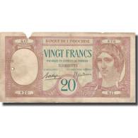 Billet, Côte Française Des Somalis, 20 Francs, KM:7a, TB+ - Indocina