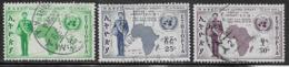 Ethiopia Scott # C60, C62-3 Used Map. UN Emblem, 1958 - Ethiopia