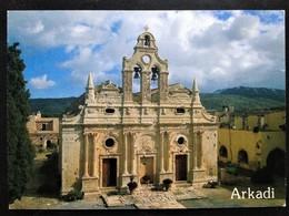 "Greece, Crete Island, Circulated Postcard, ""Architecture"", ""Monasteries"", ""Monuments"" - Griechenland"